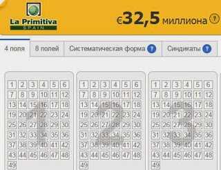 Spansk lotteri la primitiva - instruktioner: hvordan man spiller fra Rusland