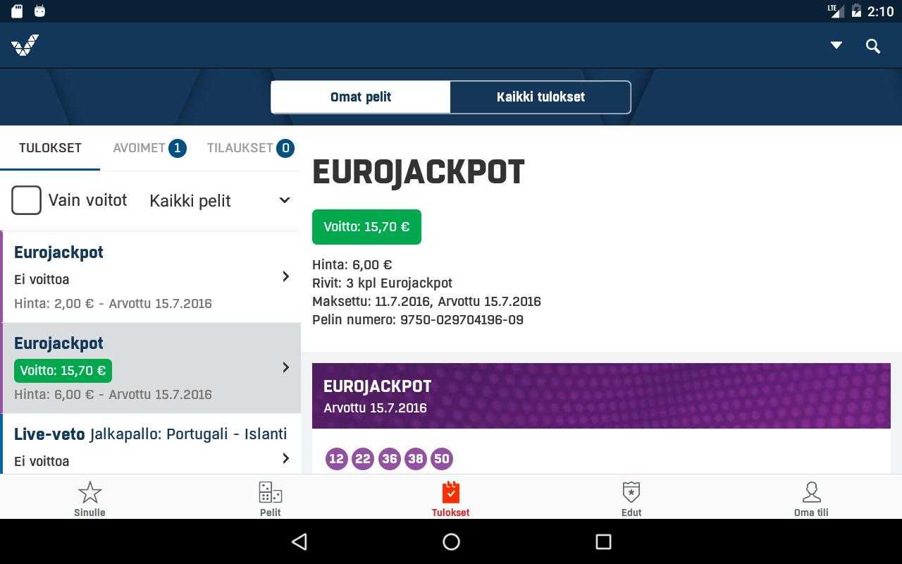 Finland veikkaus lotto - store chancer, store præmier, lave billetpriser | store lotterier
