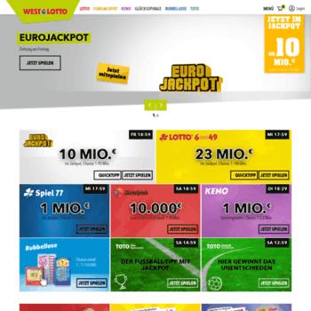 Westlotto.de analisi competitiva, marketing mix e traffico