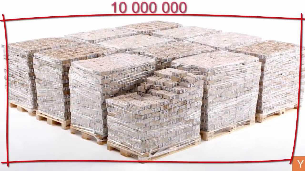 Hvor mye veier en million og milliarder dollar?, gni og eur i forskjellige valører