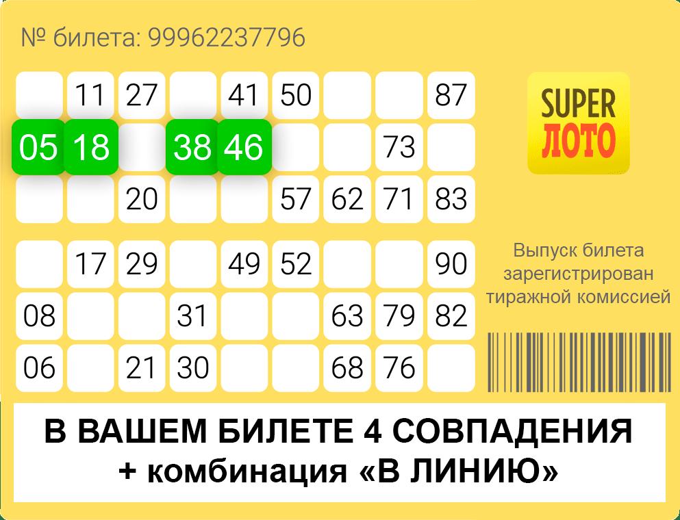 Калифорнийская лотерея superlotto plus (5 из 47 + 1 из 27)