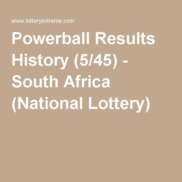 South africa powerball + results › latest