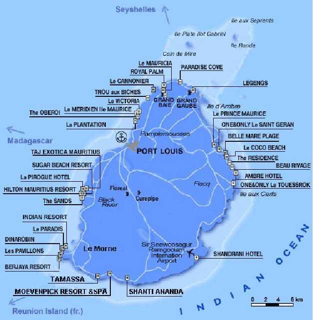 Mauritiuksen kasino - rentoutumista, etuja, sijainti kartalla