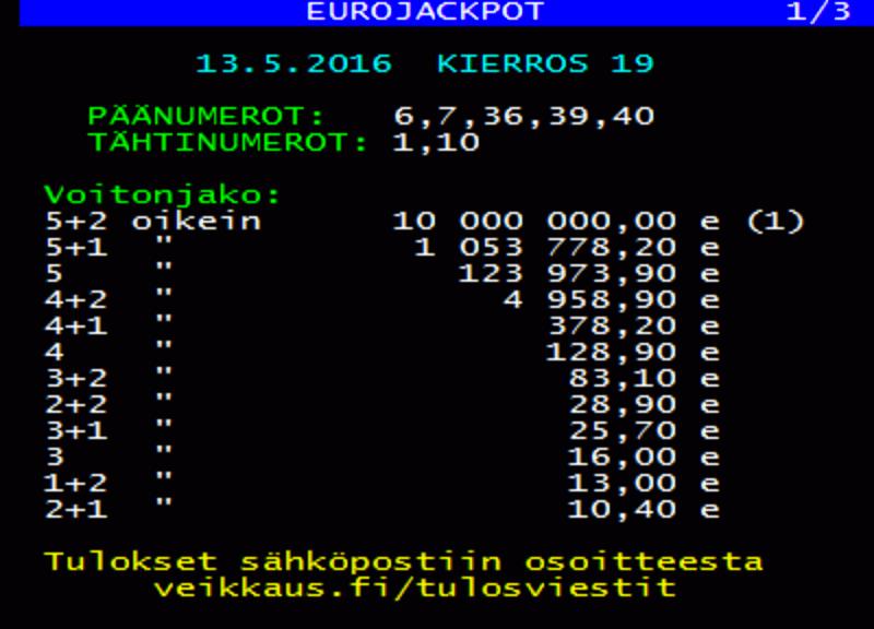 Eurojackpot | det største officielle lotteri i Europa