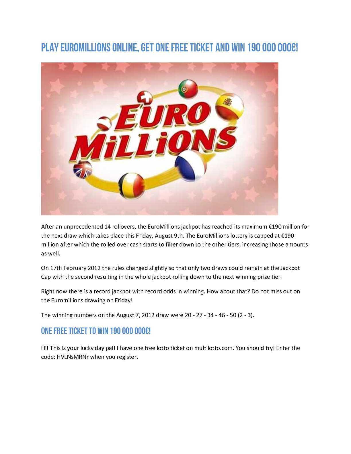 الأسئلة الشائعة حول Euromillions hotpicks