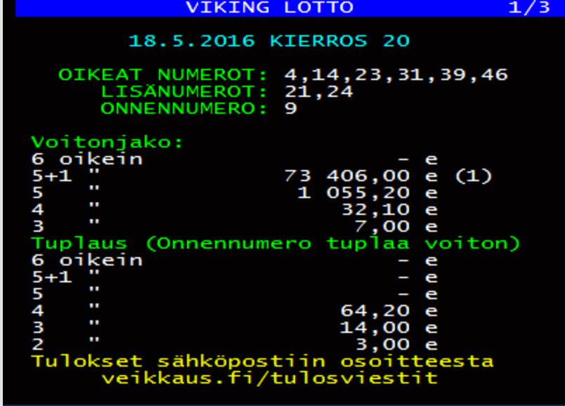 Статистика vikinglotto