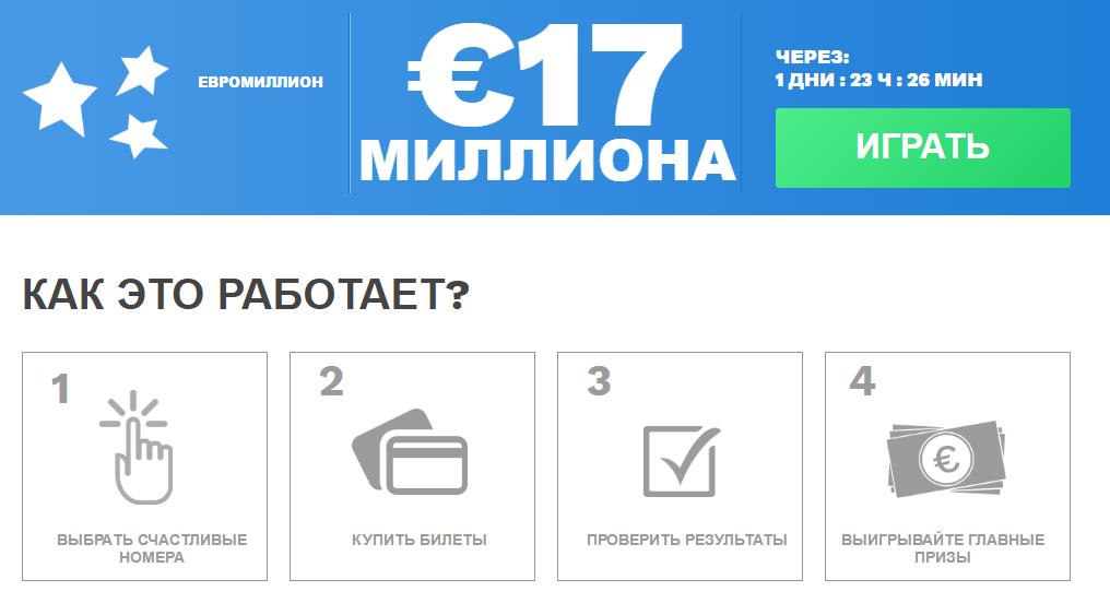 Играть в лотерею евромиллионы за границей