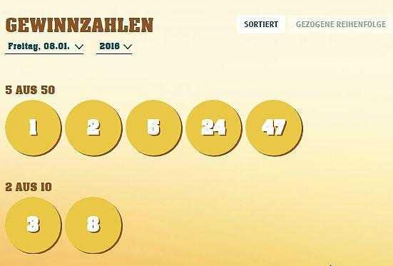Numéros de loterie Eurojackpot