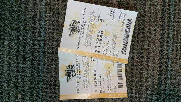 Mega milioni di lotterie americane (5 из 70 + 1 di 25)