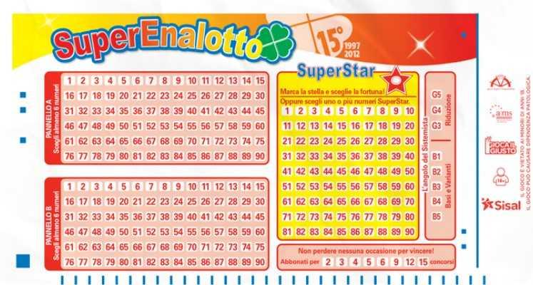Итальянская лотерея «супереналотто»