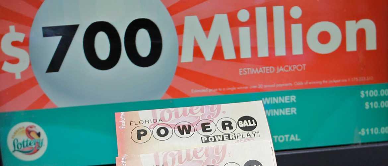 Американская лотерея powerball (5 из 69 + 1 из 26)