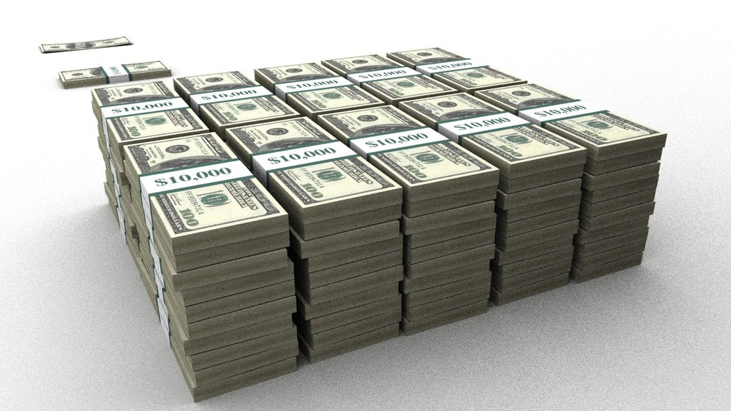 1000000 dollars (USD) en roubles russes (frotter)