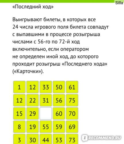 Lotteria del bingo 75