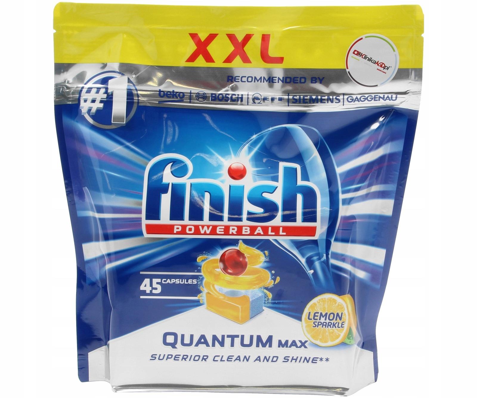 Таблетки finish quantum max для посудомоечной машины