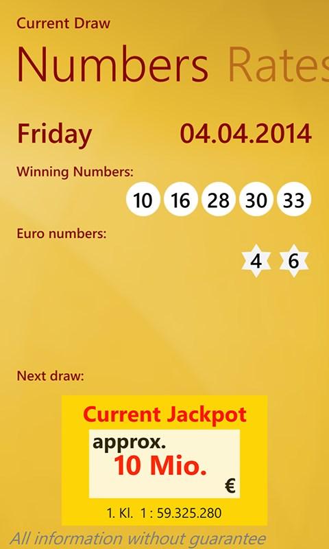Eurojackpot-generator