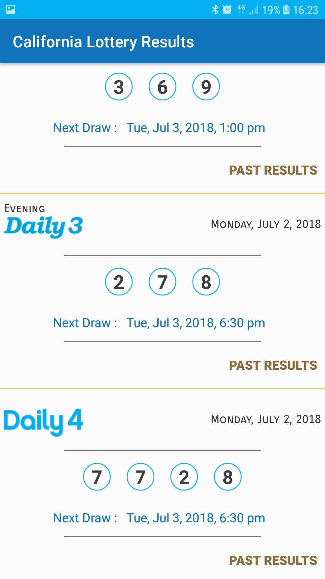 California lotteri superlotto pluss (5 из 47 + 1 av 27)