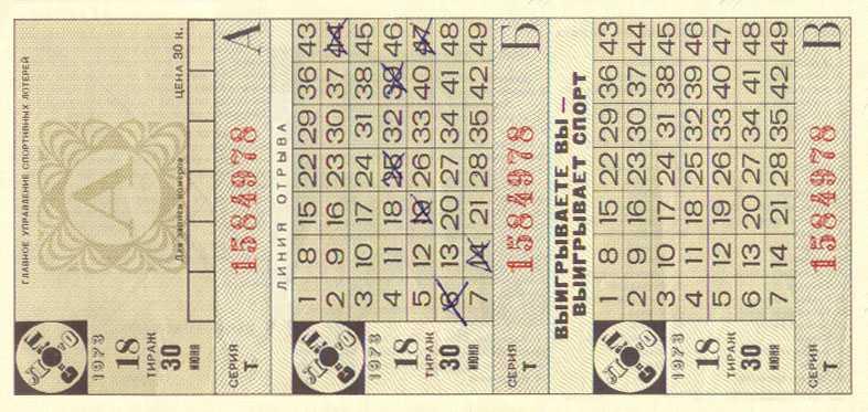 Краткая история лотереи «победа»