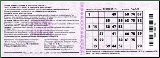 Lotteria Bingo-75: Compra il biglietto Lotteria Bingo-75 dal sito ufficiale di Stoloto