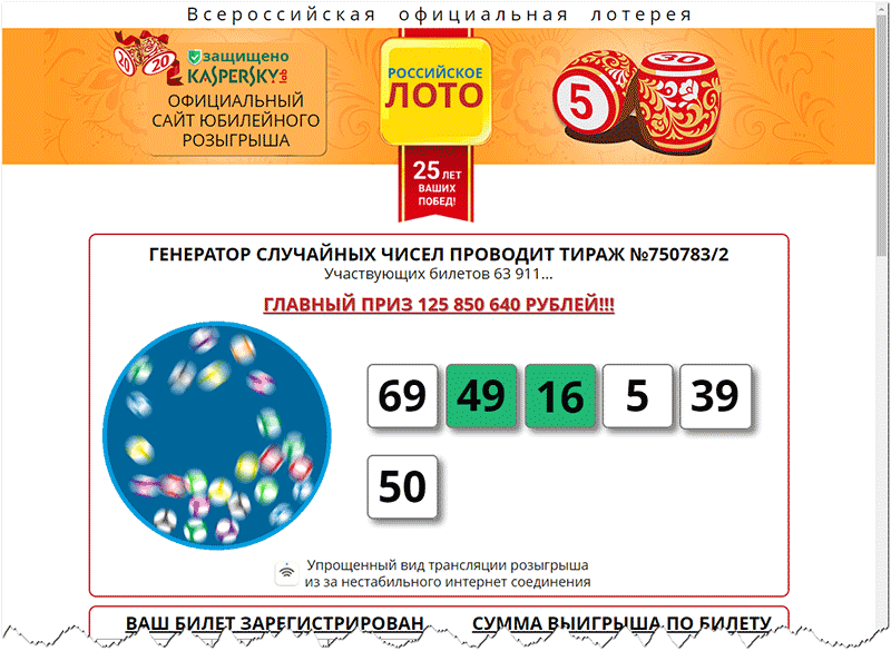 Russian lotto - is it a divorce or not? - earnings edition
