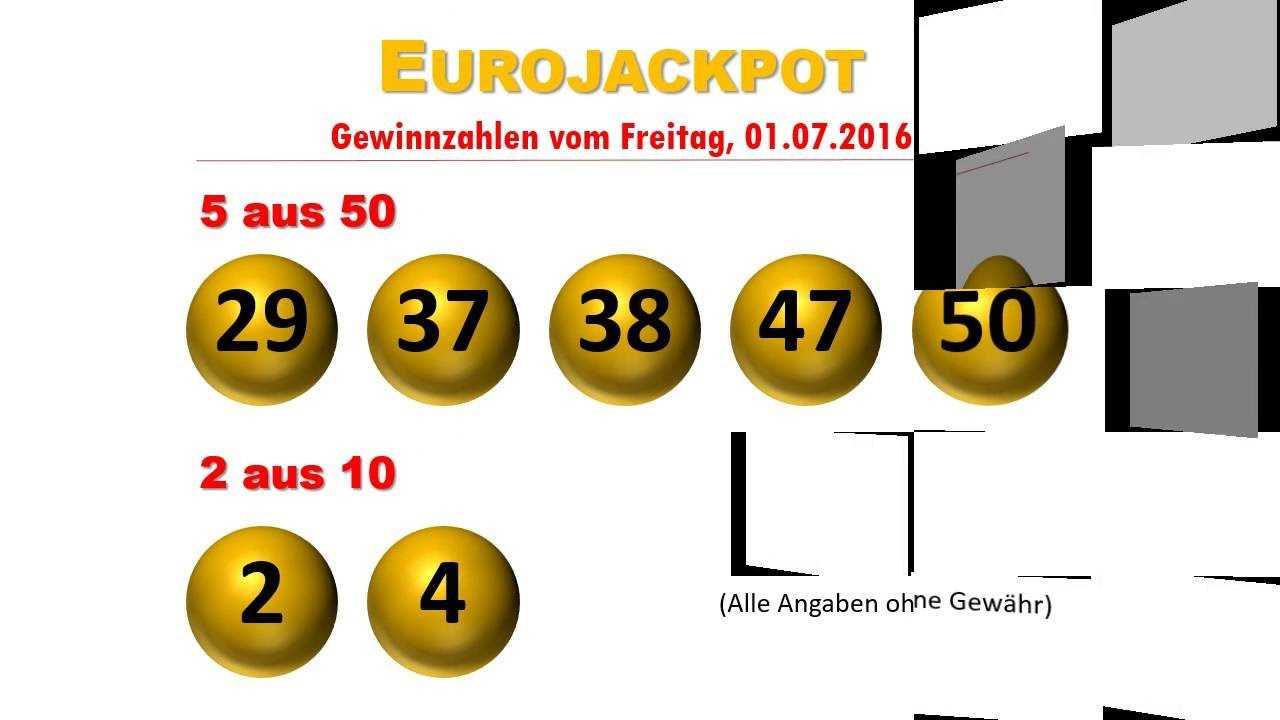 Eurojackpot lotterie zahlen