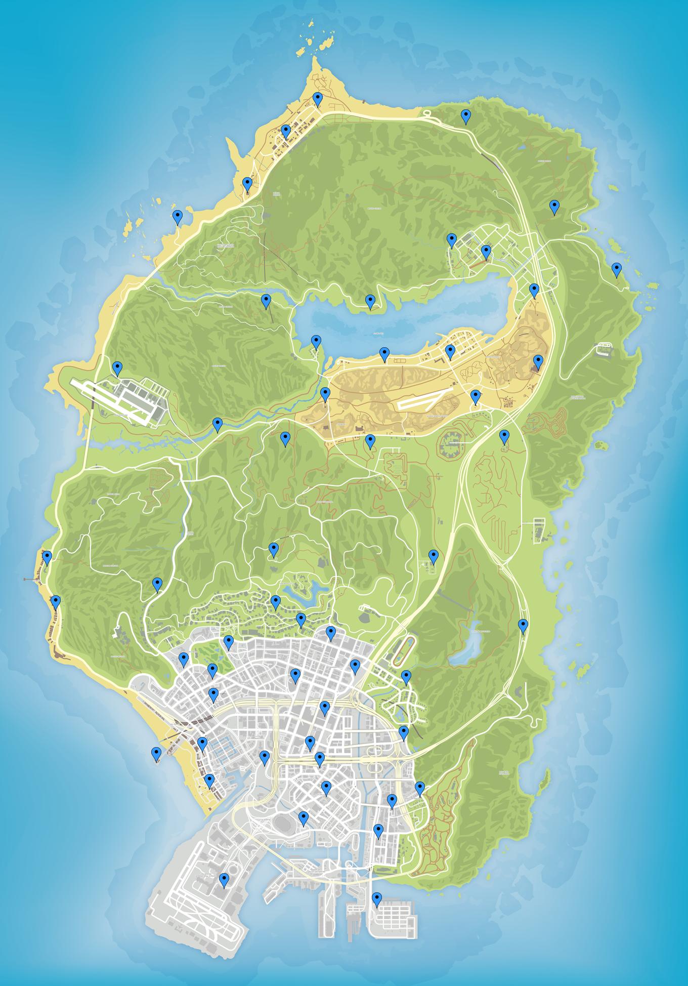 54 игральные карты в gta 5 online: все расположения на картах