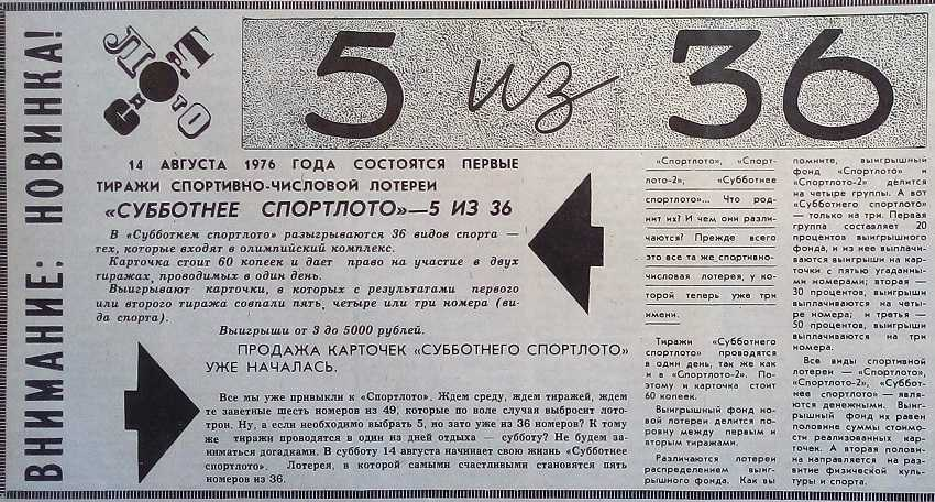 Lottery evolution: why for a long time the citizens of the USSR did not want to buy lottery tickets