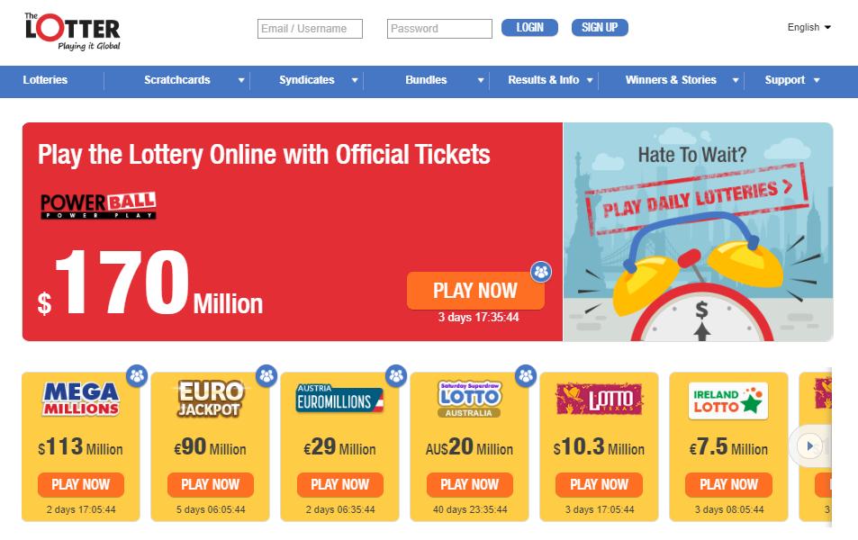 Beste online lotterisider | legitime lotterier online