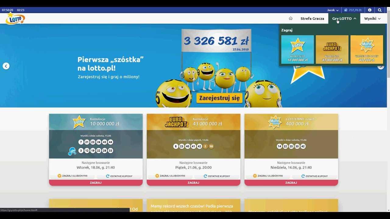 Mini lotto della lotteria polacca