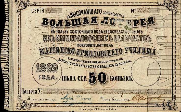 Лотерея - прошлое, настоящее и будущее