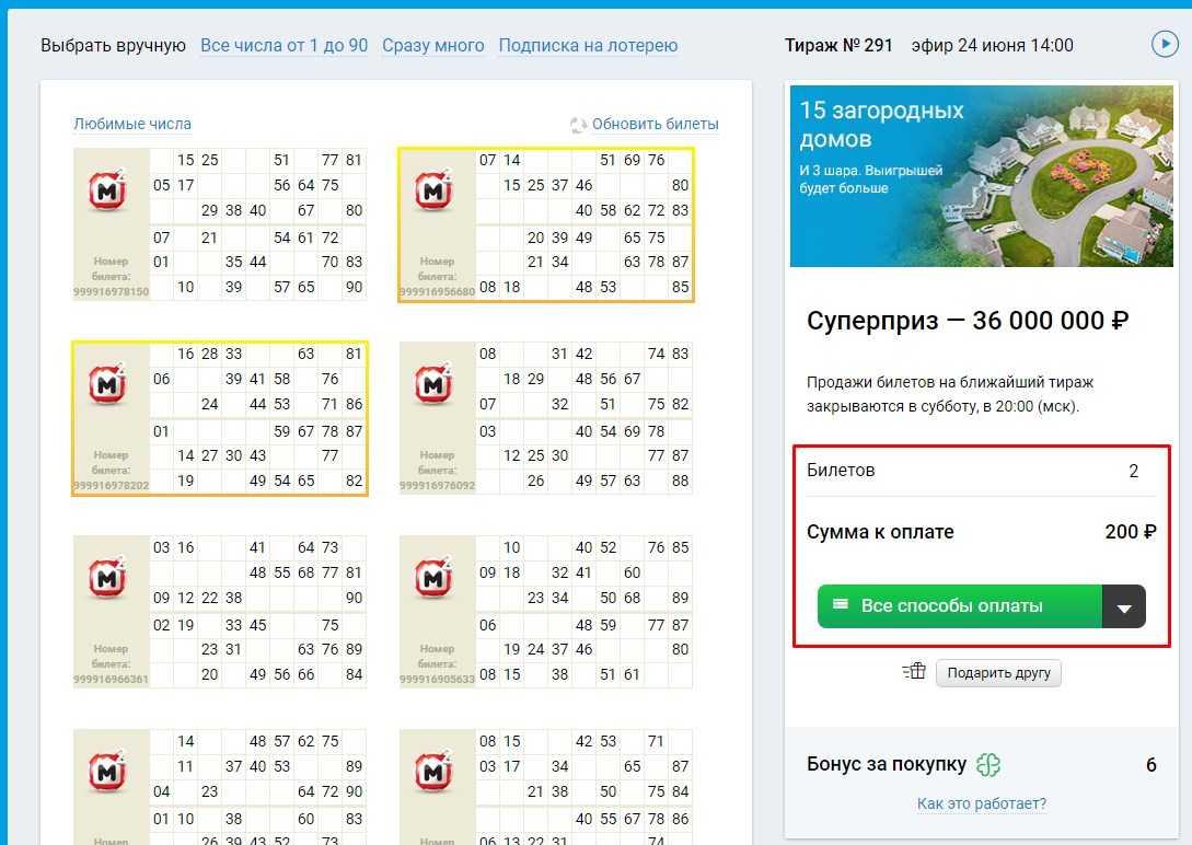 Versione mobile di Stoloto: come acquistare un biglietto della lotteria dal tuo cellulare