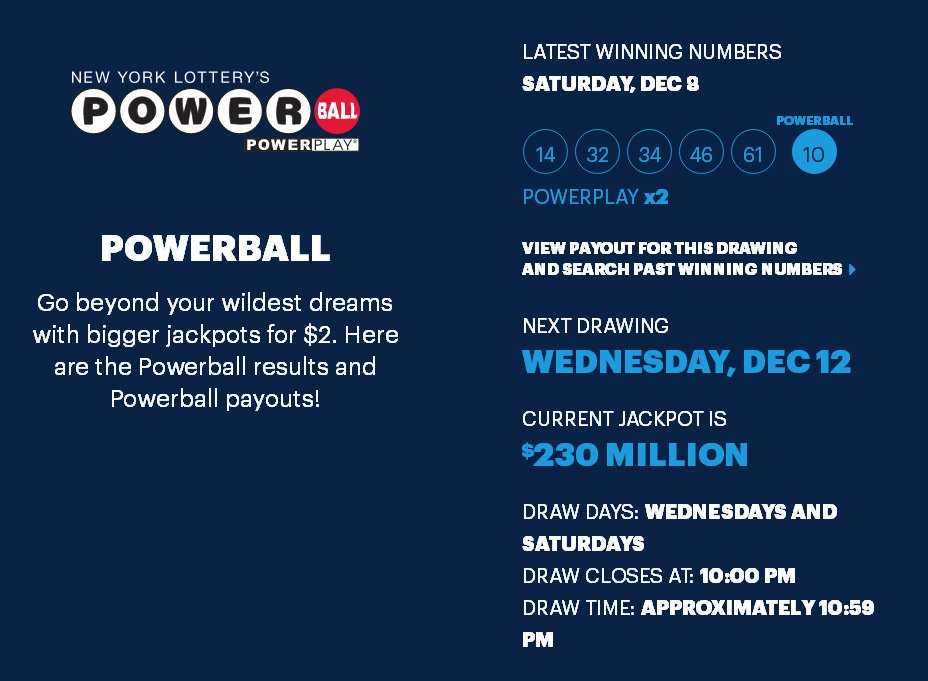Powerball results – the latest winning powerball numbers online