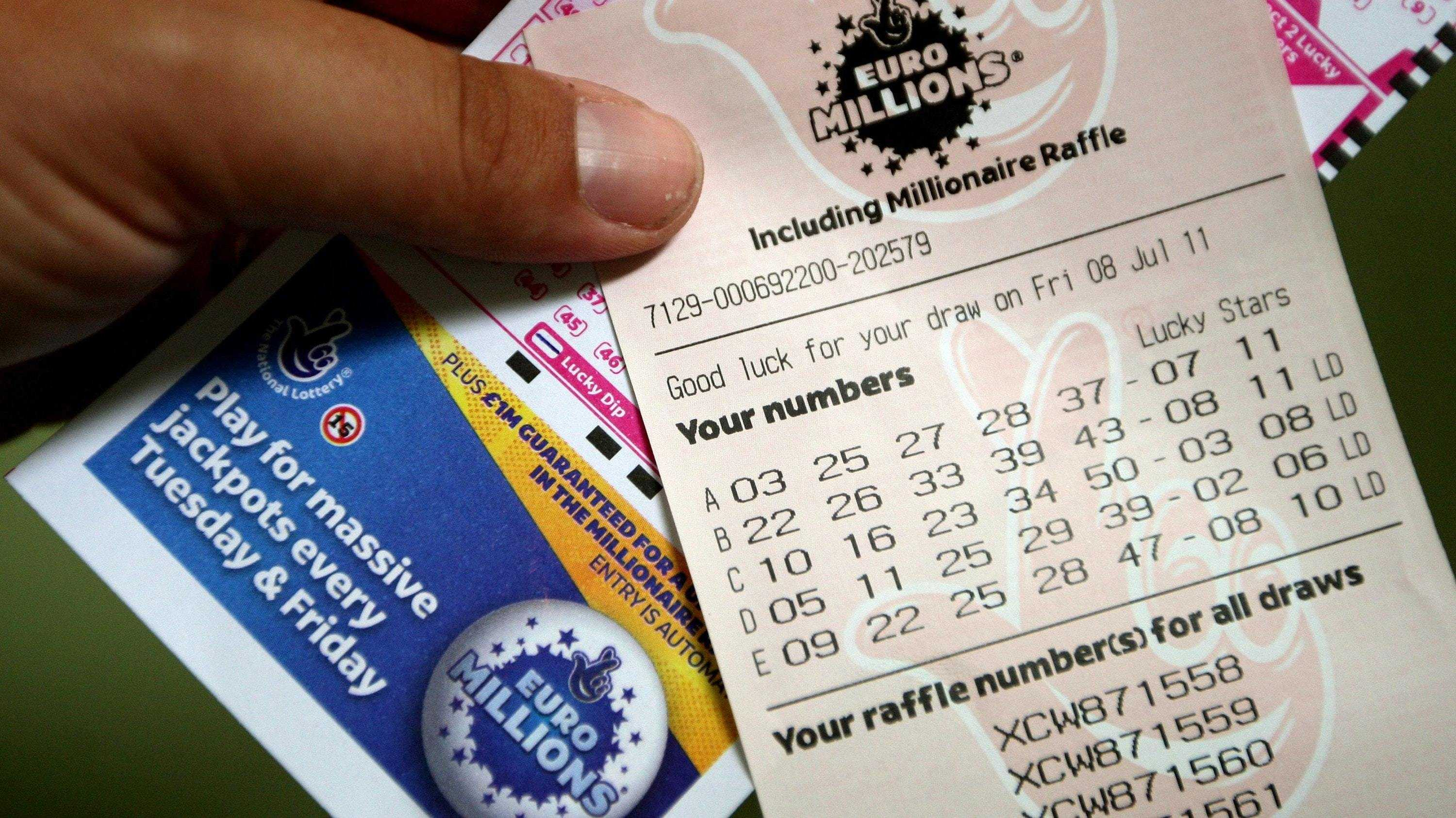 EuroMillions lottery prizes