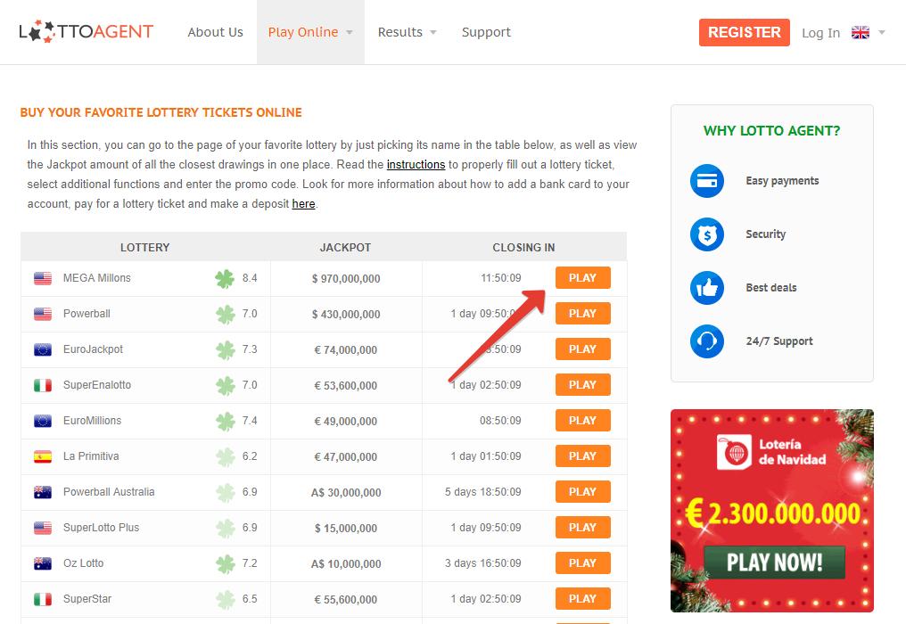 Speel en win de italiaans loterij superenalotto online - lotto agent